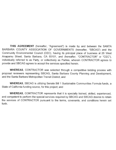 workshop contractor services agreement
