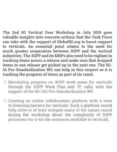 workshop task force action plan