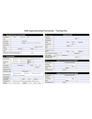 apprenticeship training plan