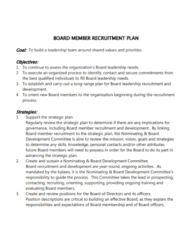board member recruitment plan