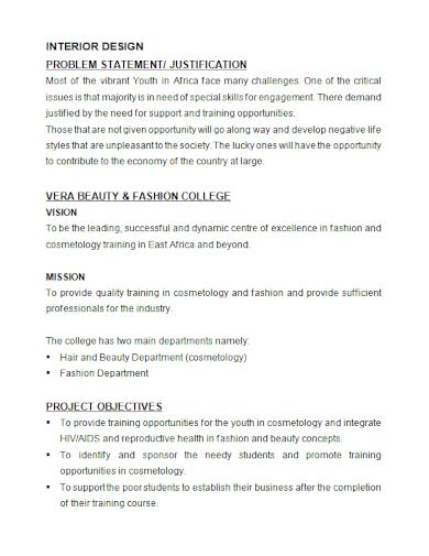 college interior design problem statement