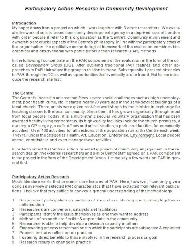 community development participatory action research