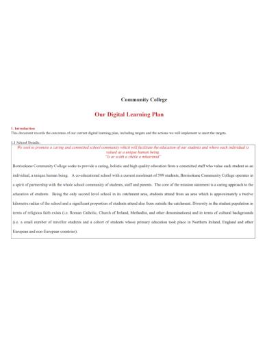 community digital learning plan