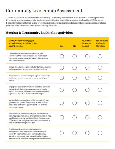 community leadership assessment