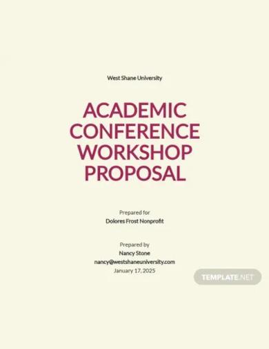 conference workshop proposal template