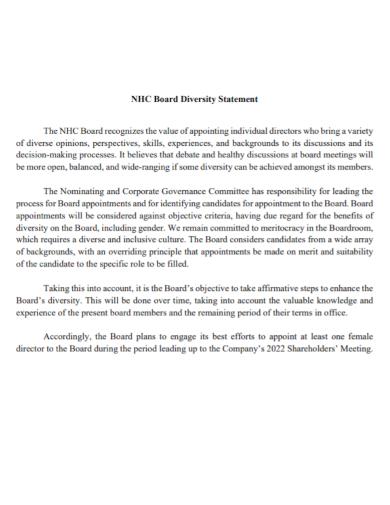 corporate committee diversity statement