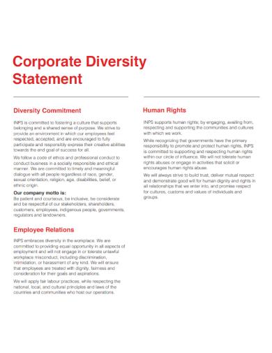 corporate diversity statement