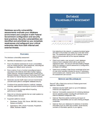 database vulnerability assessment