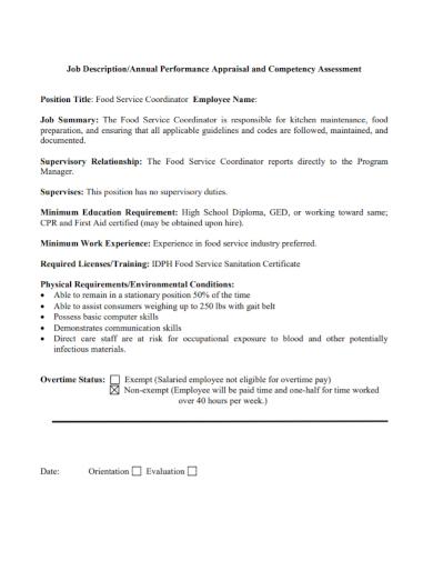 employee appraisal competency assessment