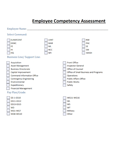 employee competency assessment
