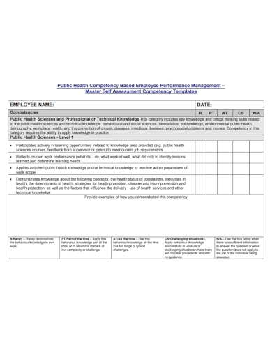 employee performance competency assessment