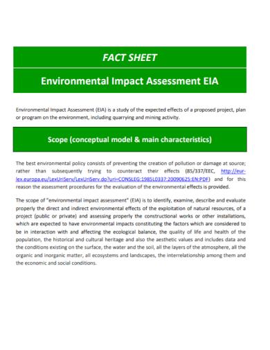 environmental impact assessment fact sheet