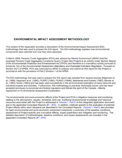 environmental impact assessment methodology