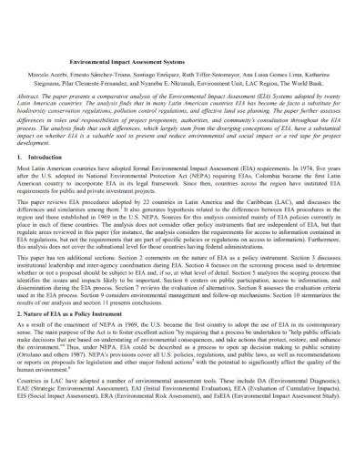 environmental impact system assessment