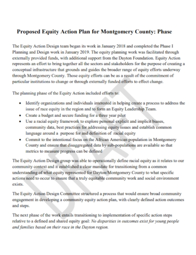 equity phase action plan