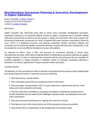 executive development succession plan