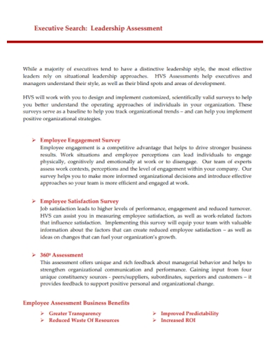 executive leadership assessment