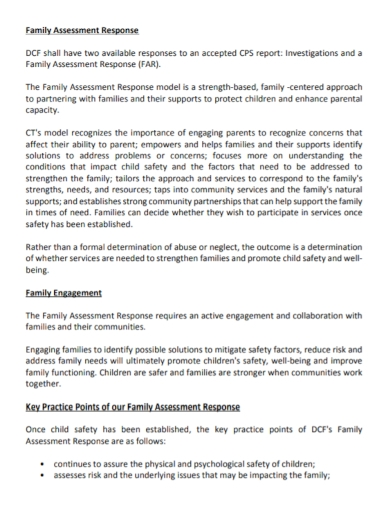 family response assessment