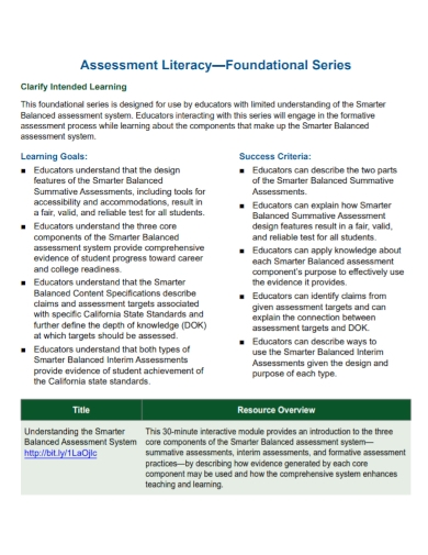 foundational literacy assessment