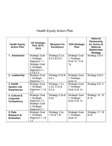 health equity action plan