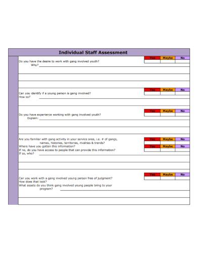 individual staff assessment