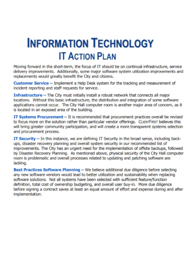 information technology action plan