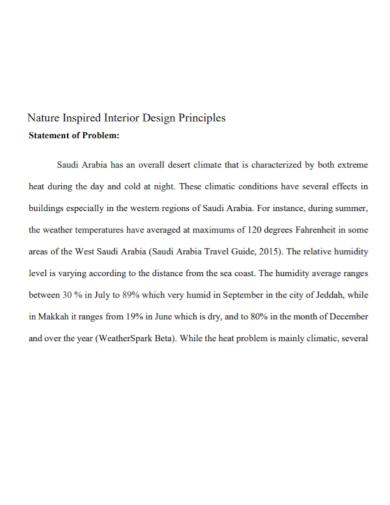 interior design problem statement