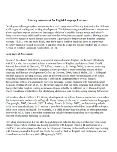 language learners literacy assessment