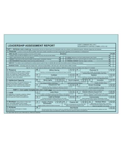 leadership assessment report