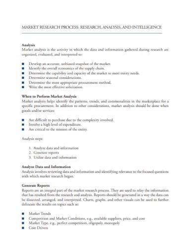 market research process analysis