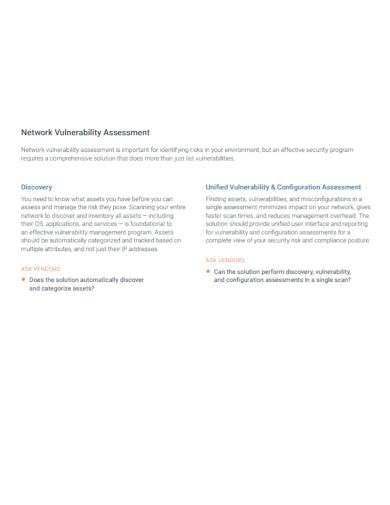 network vulnerability assessment