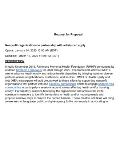 non profit partnership proposal