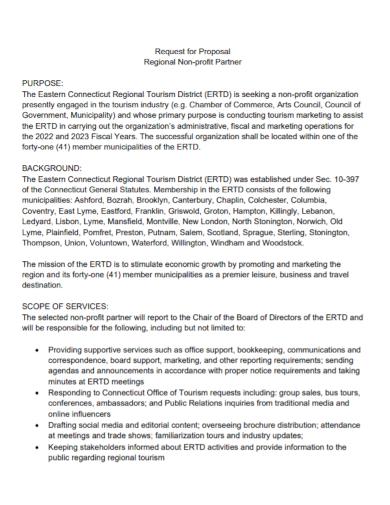 non profit partnership request for proposal