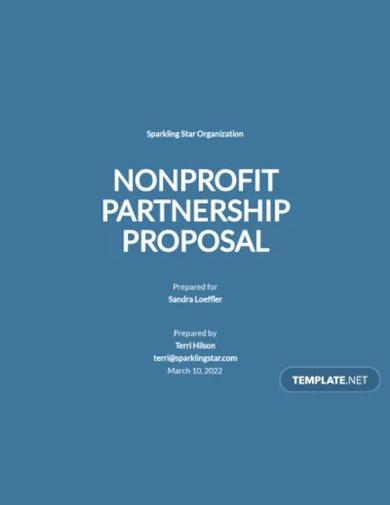 nonprofit partnership proposal template