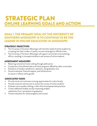 online learning strategic plan