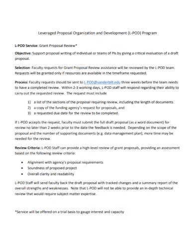 organization development program proposal