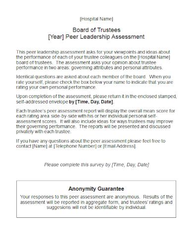 peer leadership assessment