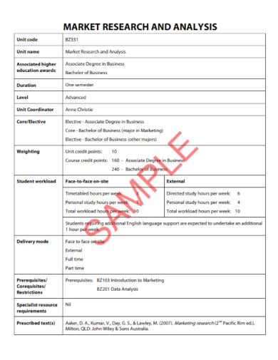 printable market research analysis