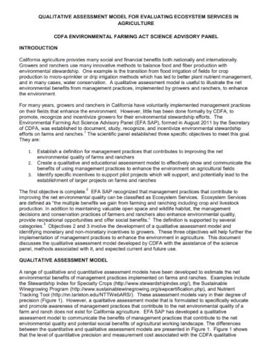 qualitative environmental assessment