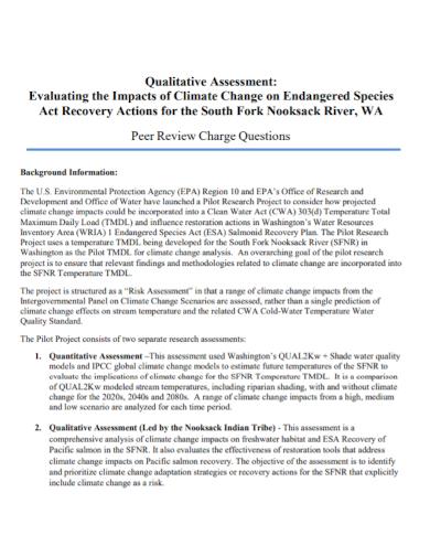 qualitative evaluation assessment