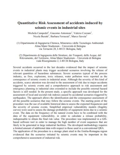 quantitative accident risk assessment