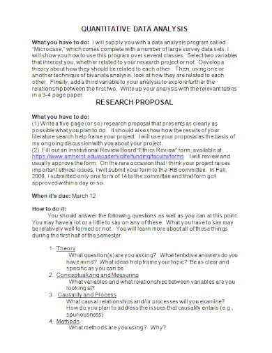quantitative data analysis research proposal