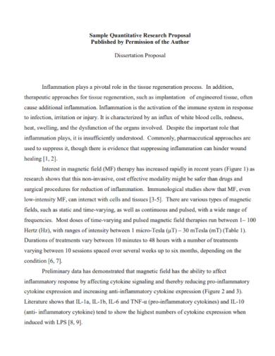 quantitative research dissertation proposal