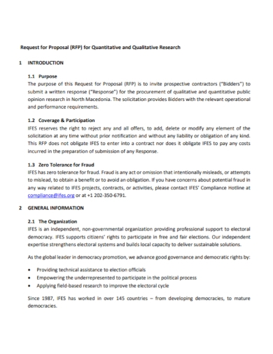 quantitative and qualitative research proposal