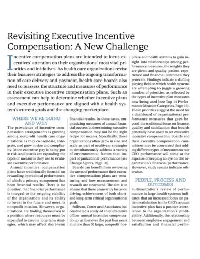 revisiting executive incentive compensation plan