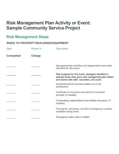 risk management plan project for buildings