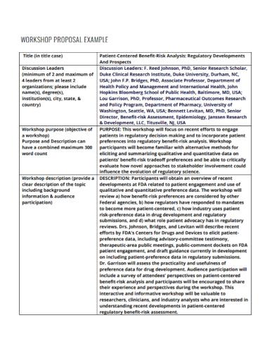 sample workshop proposal