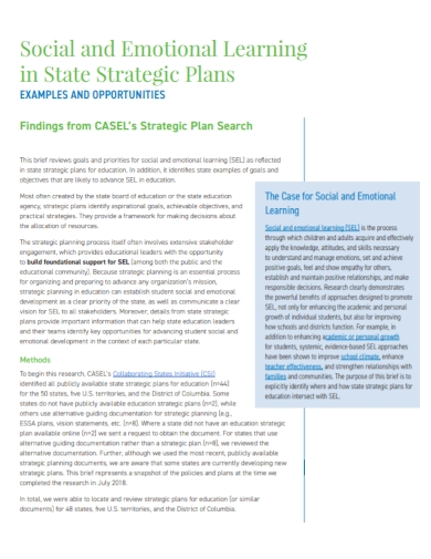 social and emotional learning strategic plan
