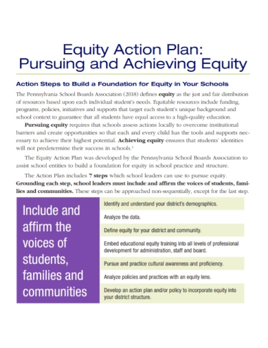 standard equity action plan