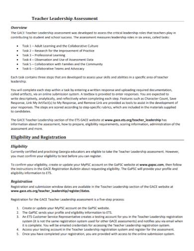 teacher leadership assessment